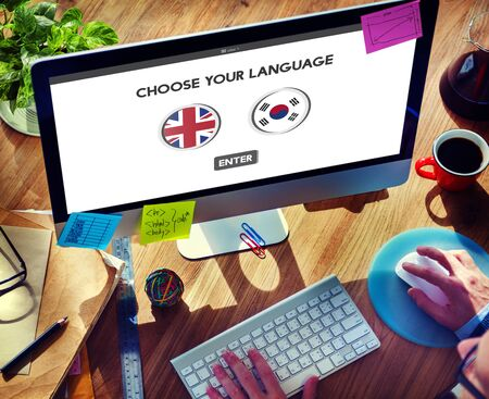 lingo: Korean English Language Communication Global Concept