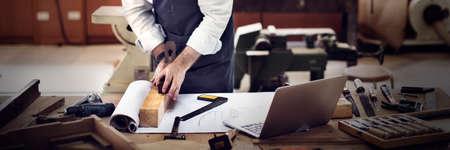 capability: Carpenter Craftmanship Carpentry Handicraft Wooden Workshop Concept Stock Photo