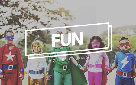 have on: Have Fun Happiness Amusement Enjoyment Pleasure Concept Stock Photo