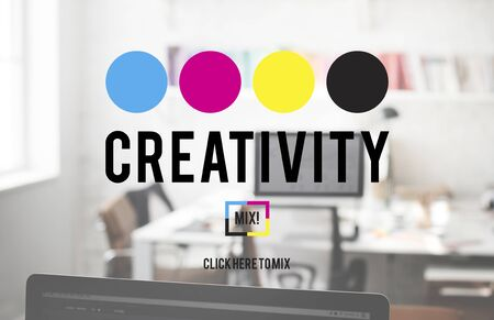 Creativity Color Imagination Creating Process Concept Stock Photo