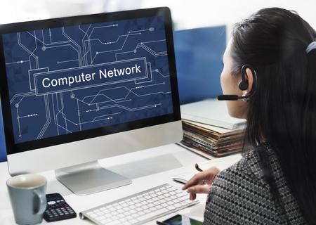 computer generation: Computer Network Connection Server Ethernet Concept