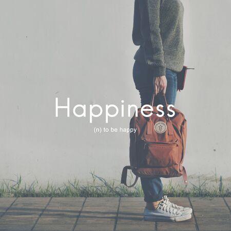 enjoyment: Happiness Cheerful Enjoyment Leisure Playful Concept