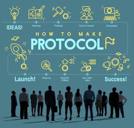 Concepto de seguridad adecuado de protección de datos de una red de protocolo