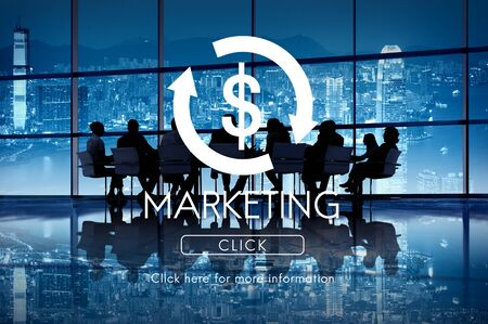 economic activity: Marketing Business Cycle Economy Financial Concept Stock Photo
