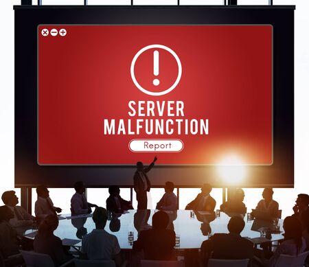 malfunction: Server Malfunction Network Problem Technology Software Concept