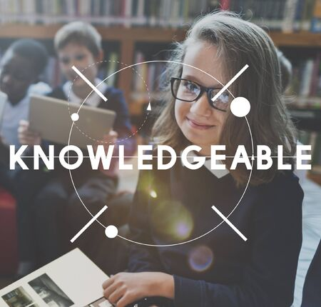 knowledgeable: Knowledge Student Learning Education Graphic Concept