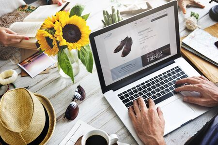 Online winkelen Betaling Shop Credit Card Concept