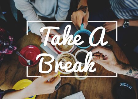 Break Tea Coffee Time Relax Concept 免版税图像