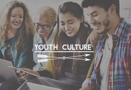 boyhood: Youth Culture Generation Lifestyle Young Teens Concept Stock Photo
