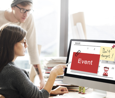 event planner: Event Schedule Occasion Planner Reminder Concept Stock Photo