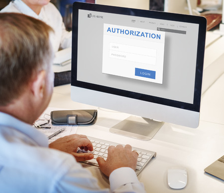 permission: Authorization Permission Accessible Security Concept Stock Photo