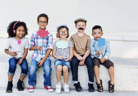 aspiration: Children Child Aspiration Brave Activity Success Concept Stock Photo