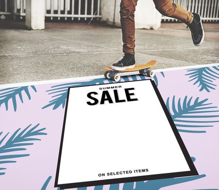 consumer: Sale Shopping Discount Promotion Consumer Concept Stock Photo