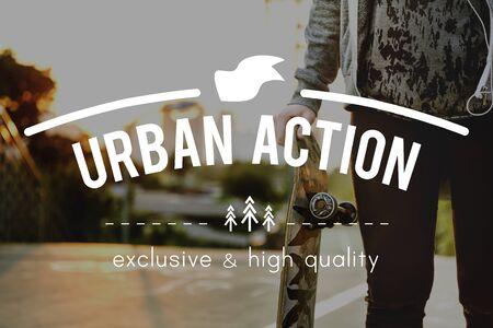 urban culture: Trend Trendy Lifestlye Urban Style Concept Stock Photo