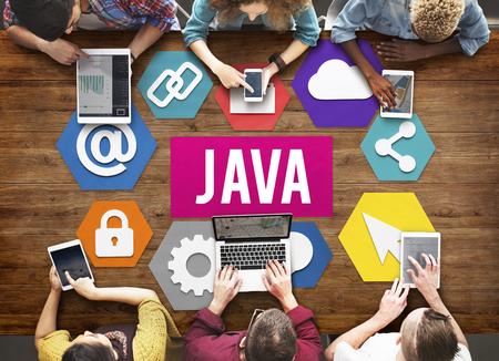 Java HTML concepto de sitio Web de Datos de Información