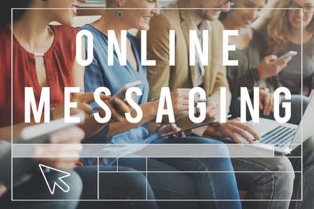 socialise: Online Community Communication Chat Blog Concept