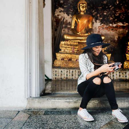 wander: Photographer Travel Sightseeing Wander Hobby Concept Stock Photo