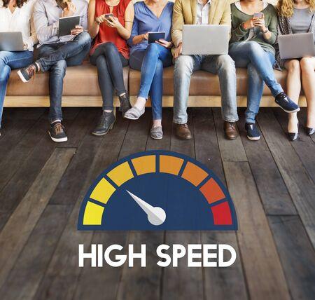 internet speed: Internet Speed Test Software Concept Stock Photo