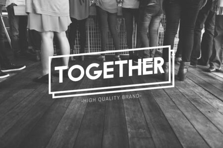 meetup: Together Community Friends Society Support Concept Stock Photo