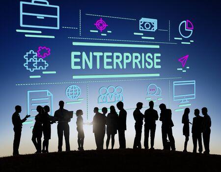 Campaña Enterprise Corporation concepto de establecimiento Foto de archivo