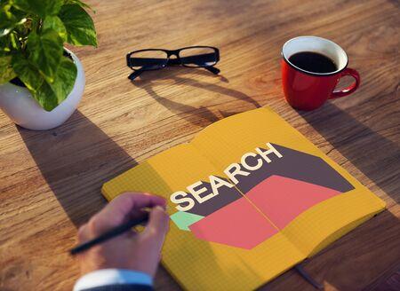 optimisation: Search Engine Optimisation Finding SEO Seeking Concept Stock Photo