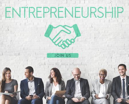 Entrepreneurship Corporate-Unternehmen Händlerkonzept Standard-Bild - 60613108