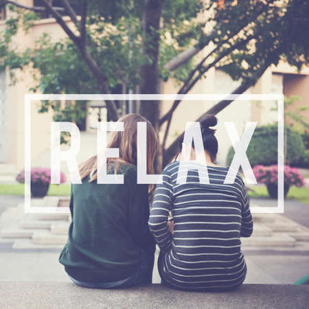 chill: Relax Recreation Chill Rest Serenity Concept Stock Photo