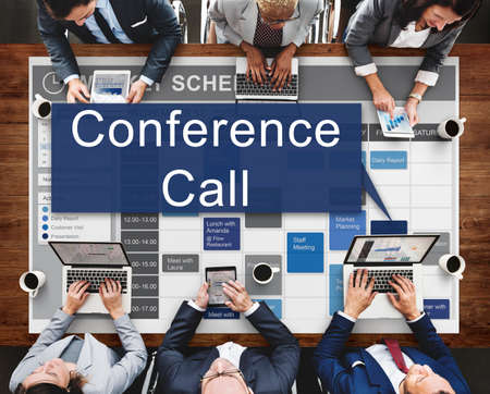 confer: Conference Call Boardroom Brainstorming Team Concept