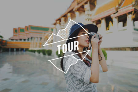Tour Travel Expedition Trip Vacation Holiday Concept Stock Photo