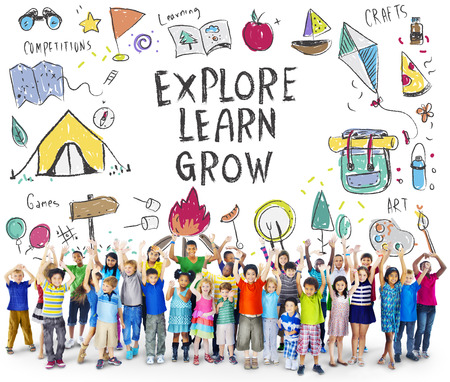 Kids Summer Camp Adventure Explora Concept