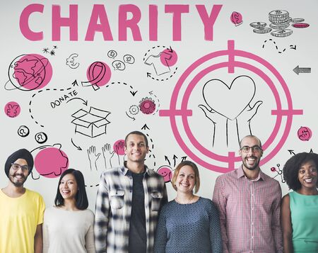 Charity Aid Donation Awareness Concept Reklamní fotografie