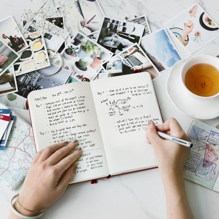 Travel Plan Destination Trip Journey Verkennen Concept Stockfoto
