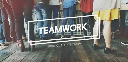 meetup: Teamwork Dreamwork Alliance Cooperation Unity Concept Stock Photo