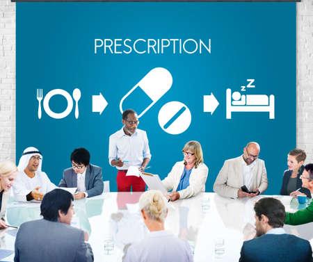 eastern medicine treatment: Prescription Medical Health Wellbeing Proper Care Concept