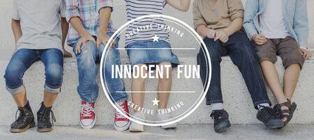 innocent: Kids Innocent Fun Children Childhood Youth Concept Stock Photo