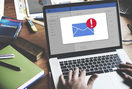 Bericht Inbox Notification Icon Concept Stockfoto