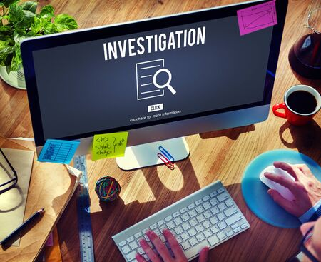 finder: Investigation Results Analysis Discovery Concept Stock Photo