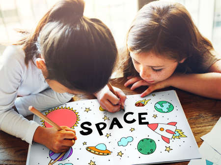 pencil drawings: Outer Space Icons Drawing Graphics Concept