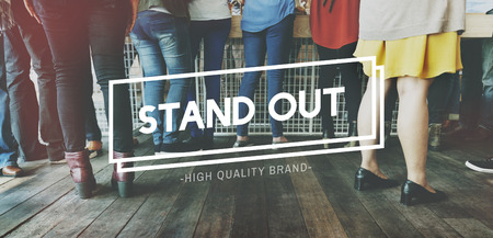 meetup: Stay Real Stand Out Choice True Truth Choice Concept Stock Photo