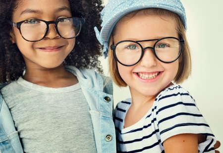 playful: Children Friendship Togetherness Playful Happiness Concept