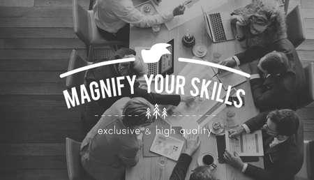 aptitude: Magnify Skills Aptitude Intelligence Occupation Concept