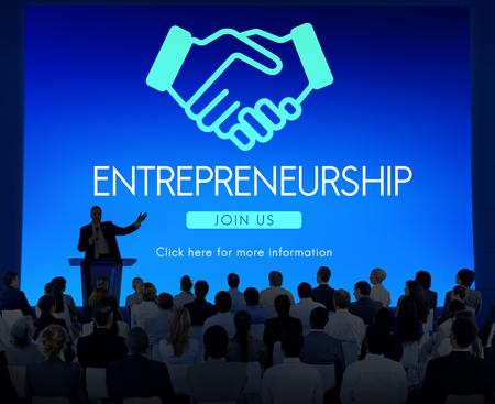 Entrepreneur Business Venture Handshake Graphic Reklamní fotografie