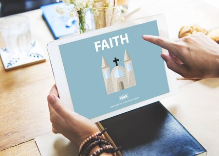 brain mysteries: Faith Ideas Imagine Inspiration Mindset Trust Concept Stock Photo