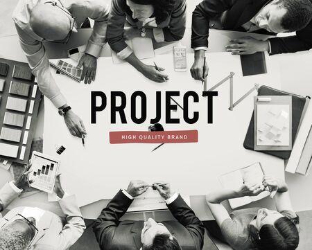 labelling: Project Progress Business Managment Plan Concept