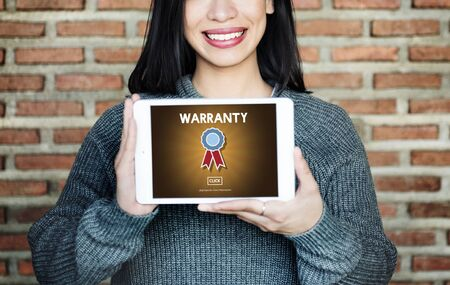 Warranty Guarantee Quality Promise Service Concept Stock Photo