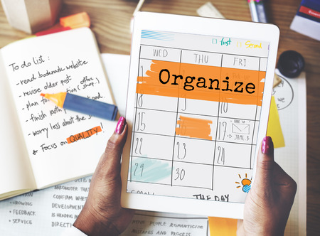 appointment book: Organize Agenda Planner Reminder Calendar To Do Concept