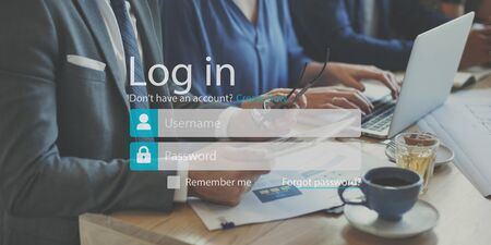 signup: Log-in Apply Subscribe Sign-up Register Enter Concept