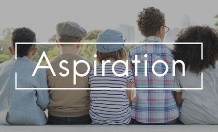 aspire: Aspirations Motivation Inspiration Aspire Concept Stock Photo