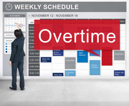 overload: Overtime Hard Working Overload Concept