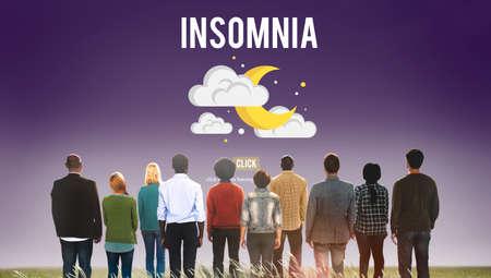 insomnia: Insomnia Disorder Problem Ilness Sleep Concept Stock Photo